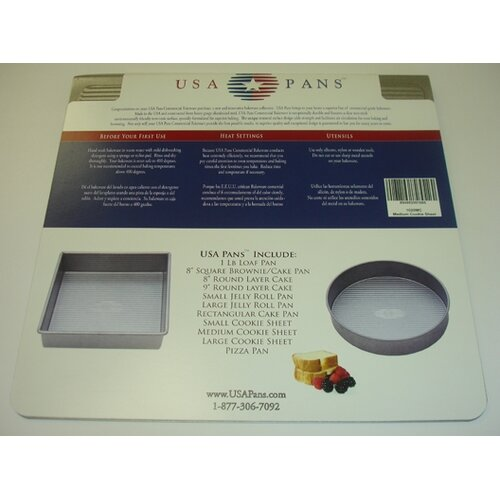 "USA Pans 14"" x 14"" Cookie Sheet with Americoat"