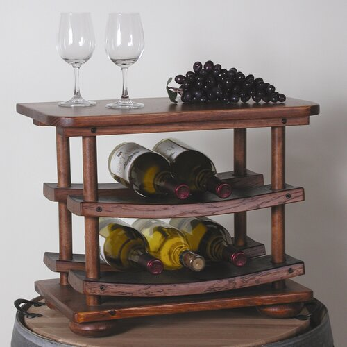 2 Day Designs, Inc 6 Bottle Tabletop Wine Rack