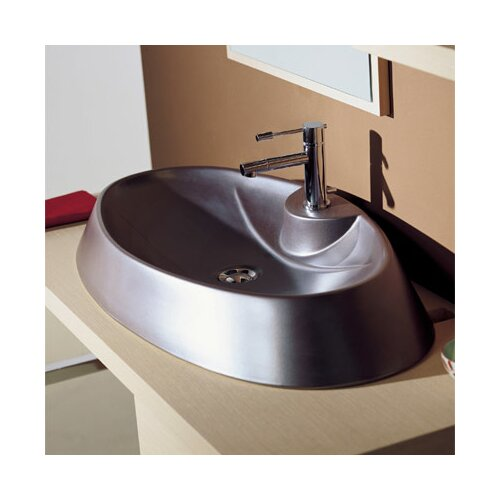 Rugby Above Counter Single Hole Bathroom Sink