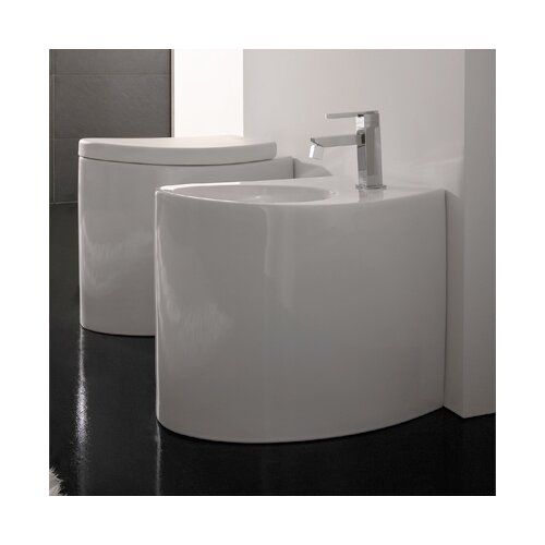 "Scarabeo by Nameeks Zefiro 13.8"" Floor Mount Bidet"