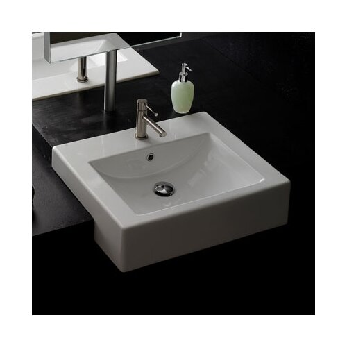 Recessed Bathroom Sink : Scarabeo by Nameeks Semi Recessed Bathroom Sink