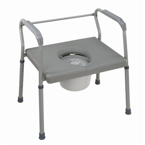 Briggs Healthcare Bariatric Extra-Wide Fixed Arm Commode