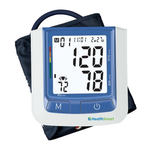 Briggs Healthcare Healthsmart Select Automatic Digital Blood Pressure Monitor in Blue with AC Adapter