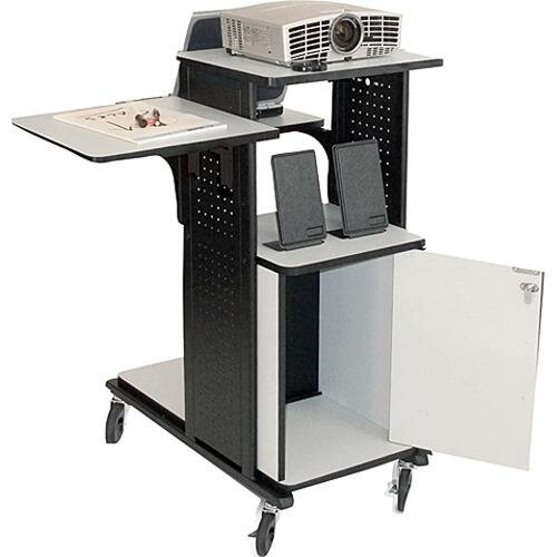 H. Wilson Company 4-Shelf Presentation Station with Security Cabinet