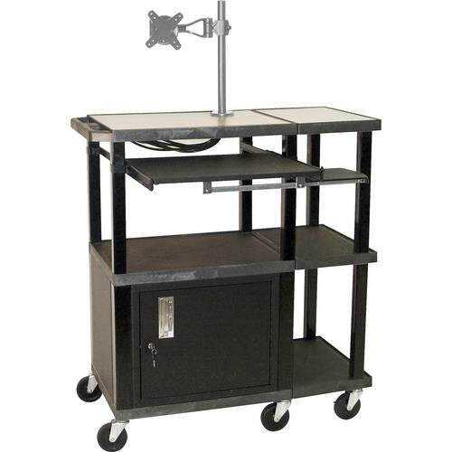 H. Wilson Company Tuffy 70 Series Extra Wide Presentation Station with Monitor Mount