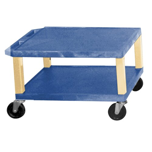 "H. Wilson Company Tuffy 16"" 2 Shelf Utility Cart"
