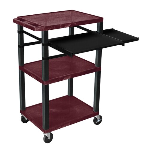 H. Wilson Company Presentation Cart with Side Pullout Shelf