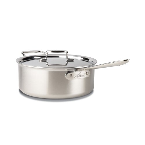 All-Clad d5 Brushed Stainless Steel 6-qt. Deep Saute Pan with Lid