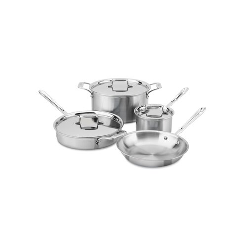 All-Clad d5 Brushed Stainless Steel 7-Piece Cookware Set