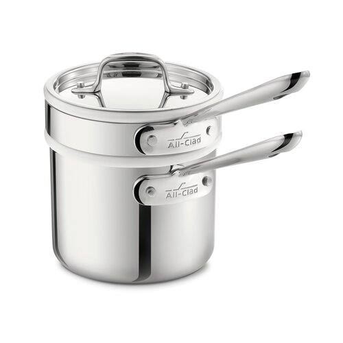 All-Clad Stainless Steel 2-qt. Double Boiler Set with Lid