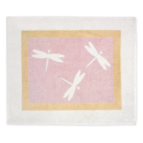 Sweet Jojo Designs Pink Dragonfly Dreams Collection Floor Rug