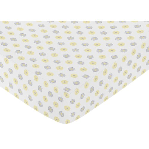 Mod Garden Floral Print Fitted Crib Sheet