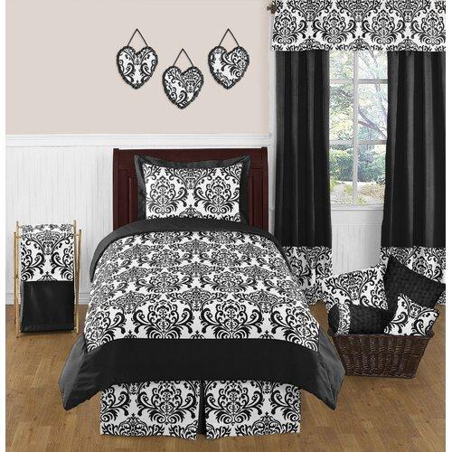 Sweet jojo designs isabella black and white comforter set - Black white bedding sets ...