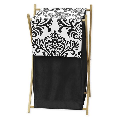 Sweet Jojo Designs Black and White Isabella Collection Laundry Hamper