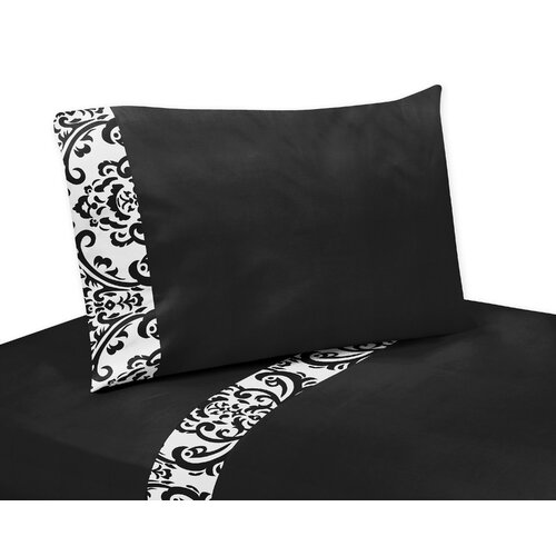 Sweet Jojo Designs Black and White Isabella Collection Sheet Set