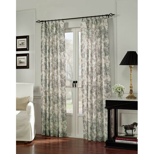 Sweet Jojo Designs Black Toile Cotton Curtain Panel