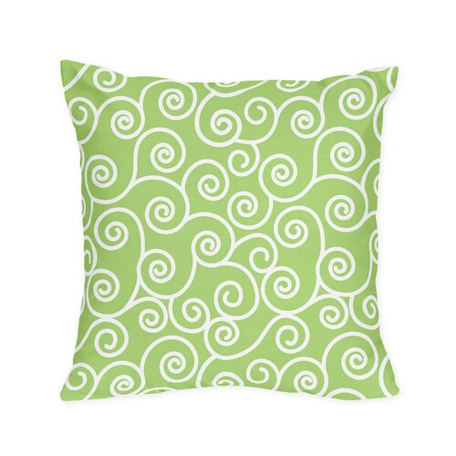 Sweet Jojo Designs Olivia Decorative Pillow with Scroll Print