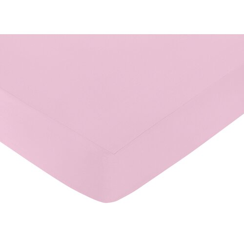 Sweet Jojo Designs Pink Elizabeth Fitted Crib Sheet