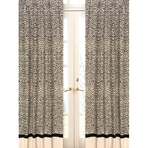 Sweet Jojo Designs Animal Safari Curtain Panel