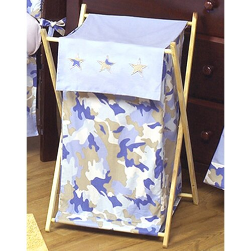 Sweet Jojo Designs Camo Blue Laundry Hamper