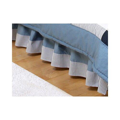 Sweet Jojo Designs Come Sail Away Toddler Bed Skirt
