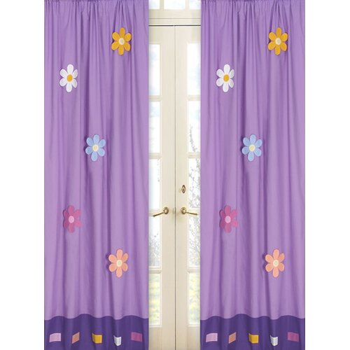 Sweet Jojo Designs Daisies Cotton Curtain Panel