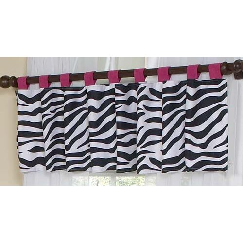"Sweet Jojo Designs Zebra Tab Top 54"" Curtain Valance"