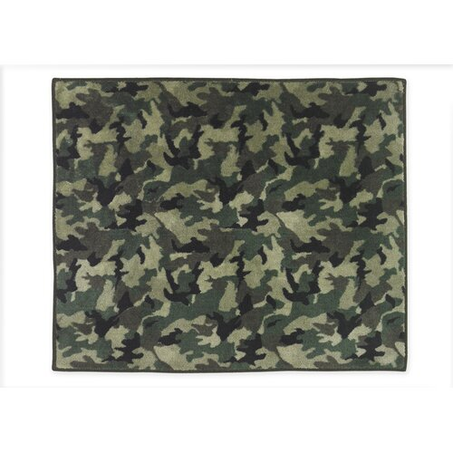 Sweet Jojo Designs Camo Green / Brown Area Rug & Reviews