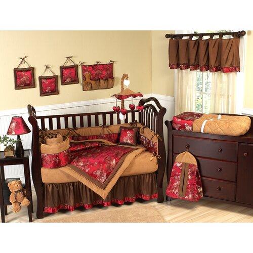 Oriental Garden 9 Piece Crib Bedding Set
