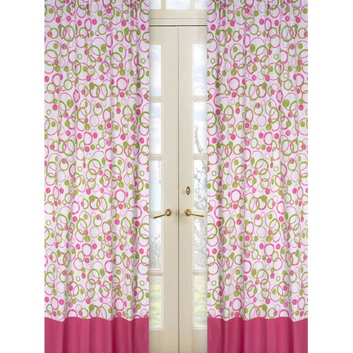 Sweet Jojo Designs Circles Pink Cotton Curtain Panel