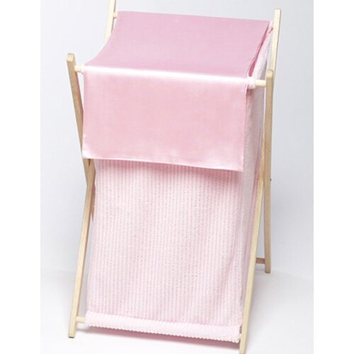 Sweet Jojo Designs Chenille Pink Laundry Hamper