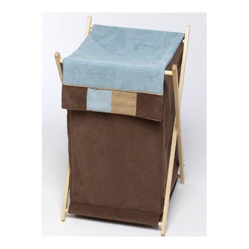 Sweet Jojo Designs Soho Blue and Brown Laundry Hamper