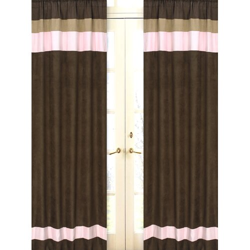 Sweet Jojo Designs Soho Pink and Brown Curtain Panel