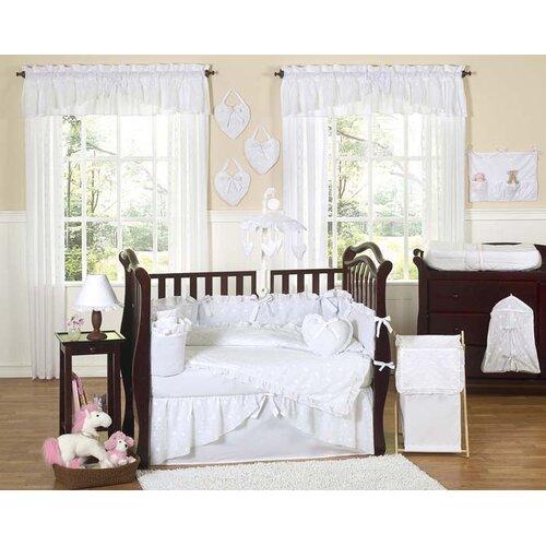 Sweet Jojo Designs Eyelet White 9 Piece Crib Bedding Set