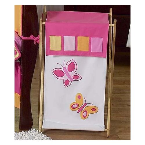 Butterfly Pink and Purple Laundry Hamper