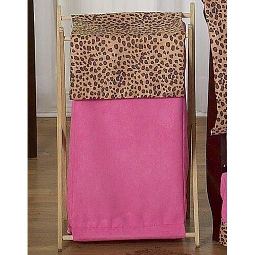 Sweet Jojo Designs Cheetah Pink Laundry Hamper