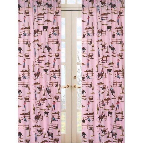 Sweet Jojo Designs Cowgirl Print Cotton Curtain Panel