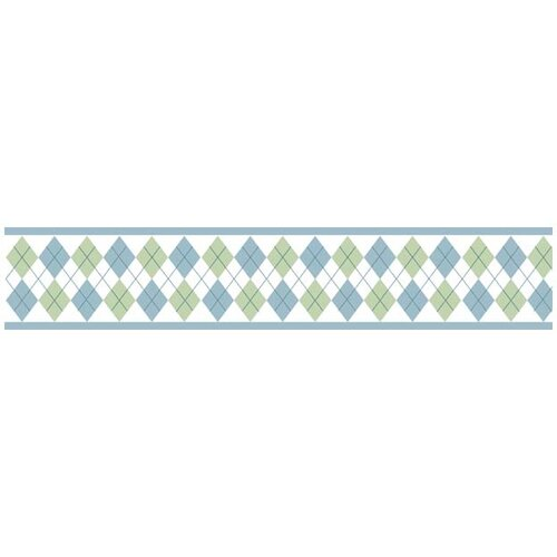 Sweet Jojo Designs Argyle Green Blue Wallpaper Border