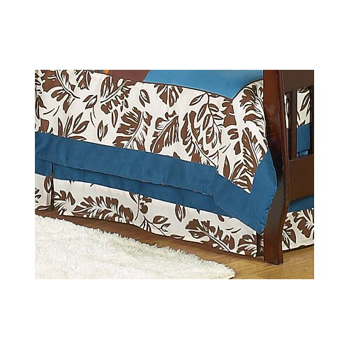 Surf Blue Toddler Bed Skirt