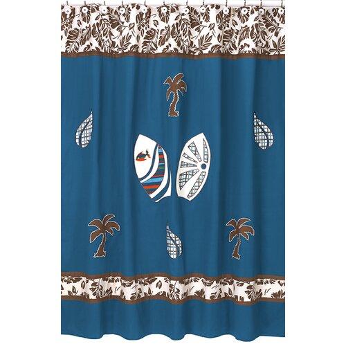 Surf Cotton Shower Curtain