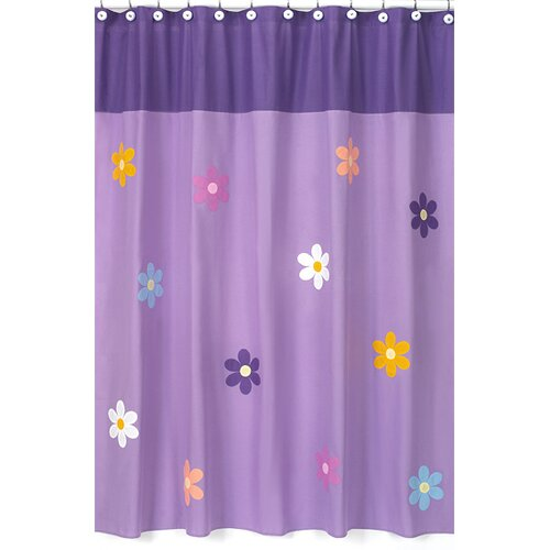 Sweet Jojo Designs Daisies Cotton Shower Curtain