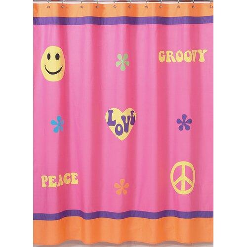 Sweet Jojo Designs Groovy Cotton Shower Curtain