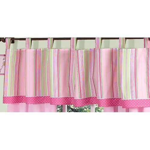 "Sweet Jojo Designs Jungle Friends Tab Top 84"" Curtain Valance"