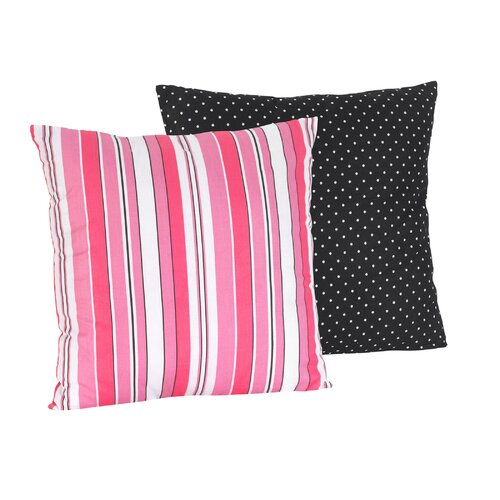 Madison Decorative Pillow with Stripe and Dot Print