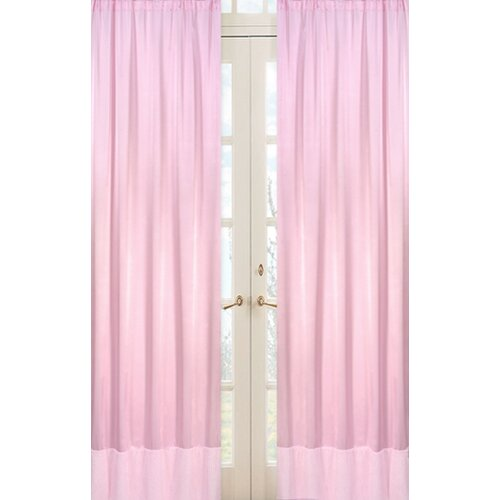 Sweet Jojo Designs Chenille Pink Curtain Panel