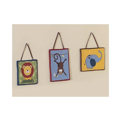 Sweet Jojo Designs 3 Piece Jungle Time Wall Hanging Set