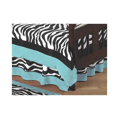 Sweet Jojo Designs Zebra Toddler Bed Skirt