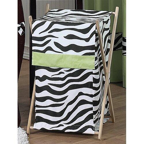 Sweet Jojo Designs Zebra Lime Laundry Hamper