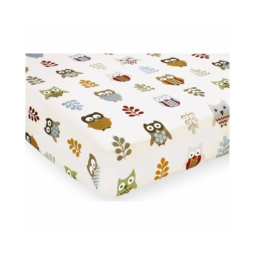 Sweet Jojo Designs Night Owl Print Fitted Crib Sheet