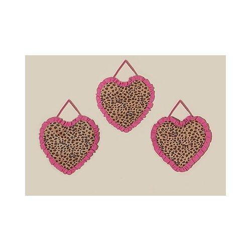 3 Piece Cheetah Pink Wall Hanging Set
